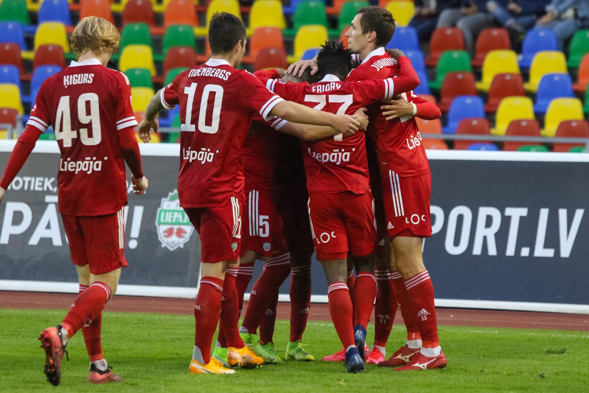 """FK """"Liepāja"""" pieveic """"Jelgavu"""" ar 3:1"""