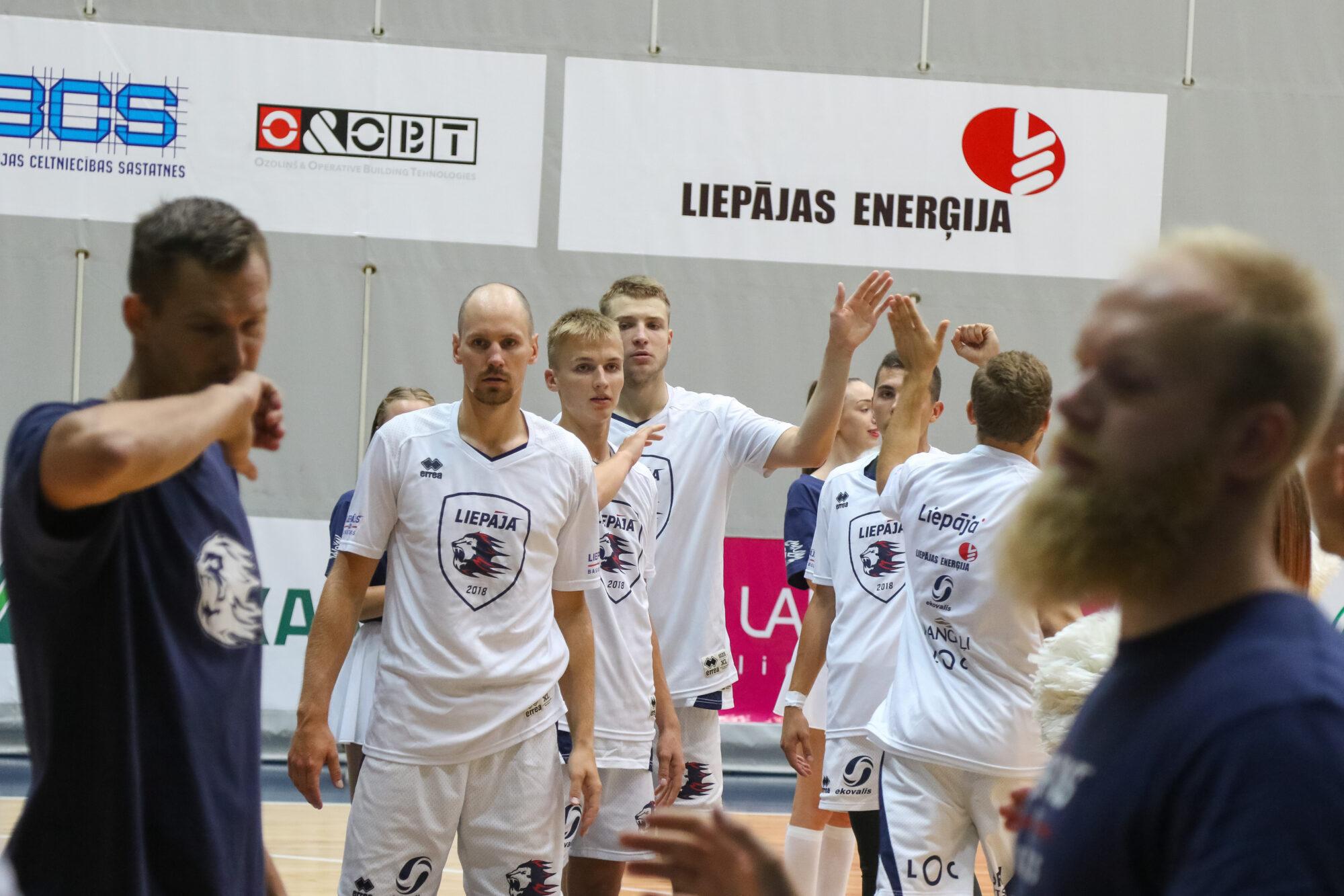"""Basketbola klubs """"Liepāja"""" savā trešajā pārbaudes spēlē pārspēja """"Ventspili"""""""