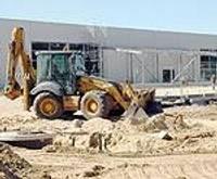 Būvmateriālu lielveikala būvniecība finiša taisnē