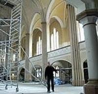 Sv.Annas baznīca zem jumta. Remonts turpinās
