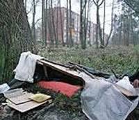 Bezpajumtnieku drazas bojā ainavu