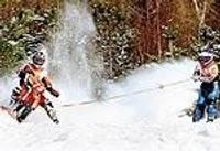 Novēloti atklāj skijoringa sezonu