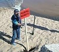 Brīdina par aizliegumu peldēties pie Ziemeļu mola
