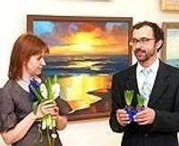 """Atklāj jūras glezniecības plenēra """"Liepājas marīna'07"""" gleznu izstādi un katalogu"""