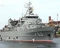 """Kuģis """"Virsaitis""""  devies uz Nīderlandi"""