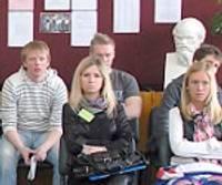 Sadarbojas triju valstu skolēni
