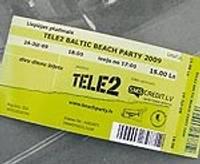 """Biļetes uz """"Tele2 Baltic Beach Party"""" dārgākas vēl nekļūst"""