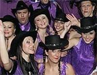 Liepājas Violetā kora dalībnieki – kovboju lomā