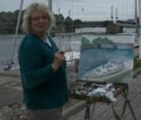 Saule un vējš mākslinieces Ilzes Eniņas gleznās