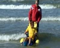 Peldēties jūrā varēs arī cilvēki ar kustību traucējumiem
