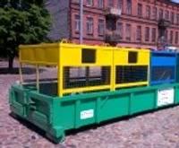 Aisteres un Klaipēdas ielā uzstādīti dalīto atkritumu vākšanas konteineri