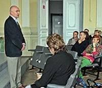 """Studenti tiekas ar AS """"Exigen Services Latvia"""" pārstāvjiem"""
