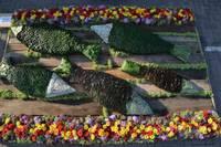 Ziedu paklāju festivālā grobiņnieces izcīna trešo vietu