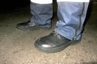 Arī mūsu policisti staigā slapjām kājām