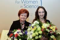 """Papildināts – Anda Hūna saņem prestižo stipendiju """"Sievietēm zinātnē"""""""