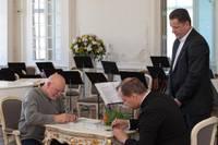 Liepājas Simfoniskais orķestris prezentē kompaktdisku ar Pētera Vaska mūziku