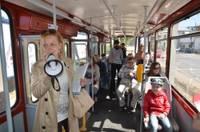 """""""Kultūras tramvajs"""" atkal uzņem pasažierus"""