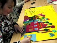 Apskatāma Liepājas Centra sākumskolas skolēnu darbu izstāde