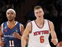 """Porziņģa 13 punkti neglābj """"Knicks"""" no zaudējuma NBA finālistei """"Cavaliers"""""""