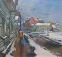 Ziema. Gleznu ainavās un grāmatu lappusēs