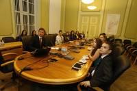 Liepājas Skolēnu domes pārstāvji tiekas ar Vilni Vitkovski