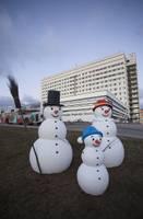 Liepājas svētku rotājumus papildinās dekoratīvi sniegavīri