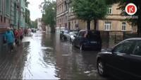 Liepājā kārtējo reizi cīnās ar plūdu sekām