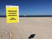 Atpūtnieku drošībai izvieto brīdinājuma zīmes