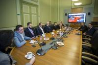 """Domes vadība vizītē uzņem """"KPV LV"""" pārstāvjus"""