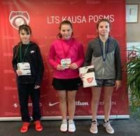 Tenisiste Elizabete Marta Hamitova sacensībās Jelgavā izcīna 3.vietu