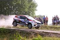 Latvijas rallija čempionāta 2. posma laureāti: Rauls Jēts, Edijs Bergmanis un Mārtiņš Sesks