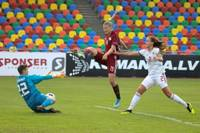 Latvijas sieviešu futbola izlase kapitulēja Liepājā