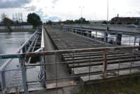 Ķersies pie Ezermalas ielas un dzelzs tilta pārbūves