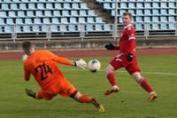 """""""Liepājas"""" futbolisti pirms Latvijas kausa fināla zaudē punktus virslīgas spēlē"""