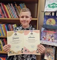2.klases skolnieks Kaspars Jurkovskis saņem godalgu eseju konkursā