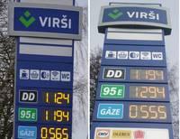 Degvielas cenas turpina kāpt, tuvojoties 2019.gada līmenim