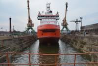 """Krievijas kuģis """"Yury Topchev"""" atstājis Liepājas ostu"""