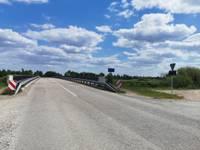 Maina ceļa segumu Bārtas tiltam