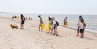 Ekspedīcijai pludmalē darāmā joprojām netrūkst
