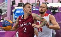 Latvijas 3×3 basketbola izlase olimpiskajā debijā pieveic Polijas izlasi