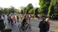 Pret ieceri ļaut atlaist nevakcinētos darbiniekus protestē arī Liepājā