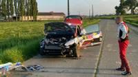 Seska ekipāža jau pirms Beļģijas WRC posma starta piedzīvo avāriju