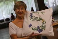 Violetajā lavandu mākonī. Svetlanas Grinbergas aizraušanās ir violeto toņu un lavandas ziedu tematika