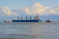 Pirmā lielā graudu krava jau Dānijā