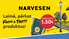 """Pērc jebkuru """"Narvesen Fresh&Tasty"""" produktu, reģistrē čeku un laimē!"""