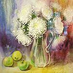 В осенние заморозки цветы благоухают