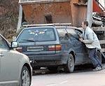 Грузовое авто вызвало аварию