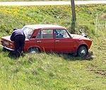 Автомашины «пасутся» на лугу