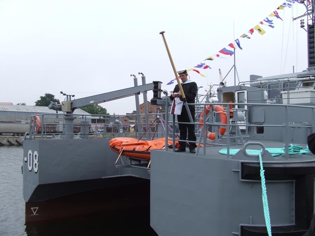 Поднимут флаг патрульного судна «Резекне»