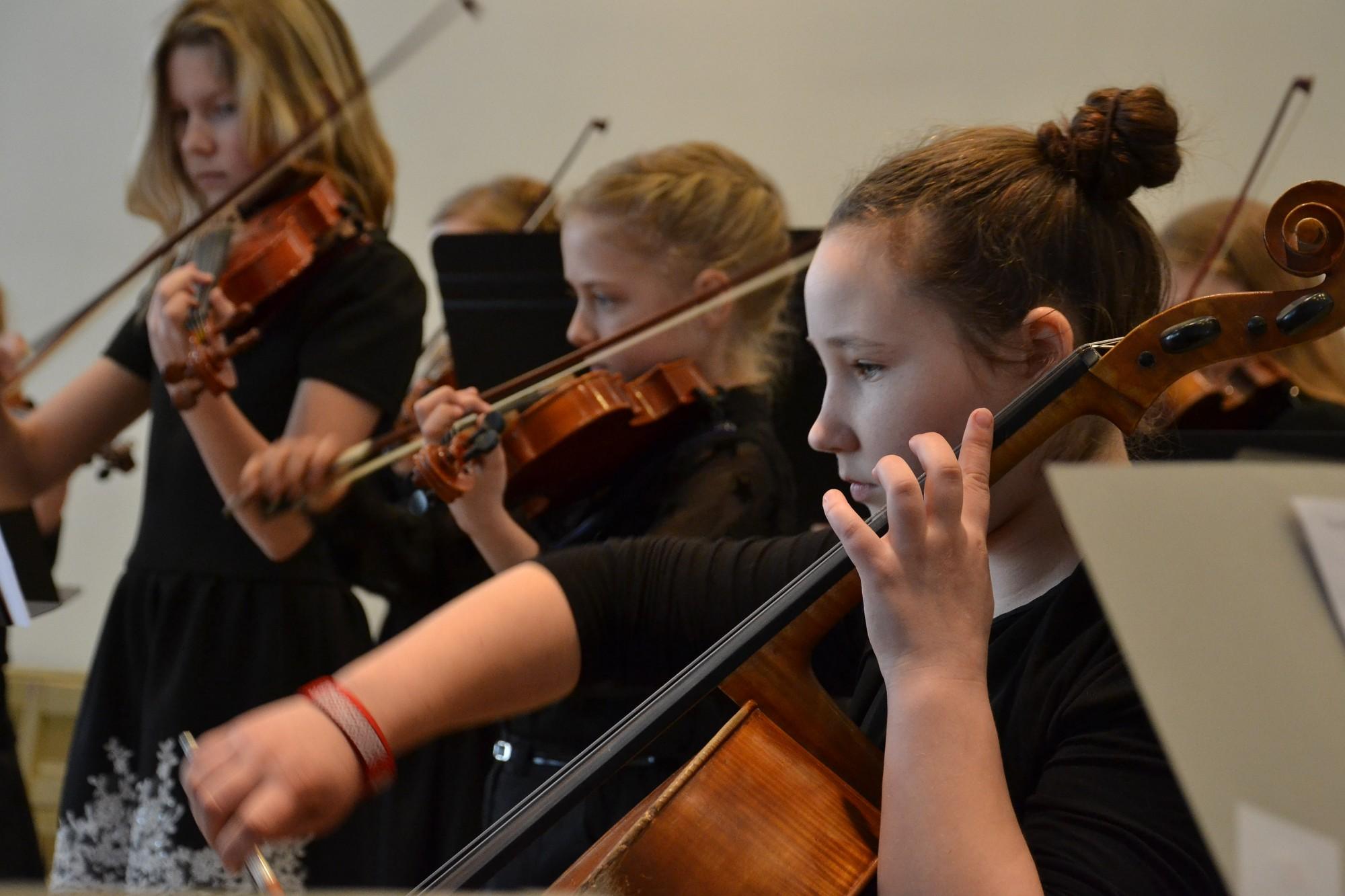 Интерес к музицированию в оркестре